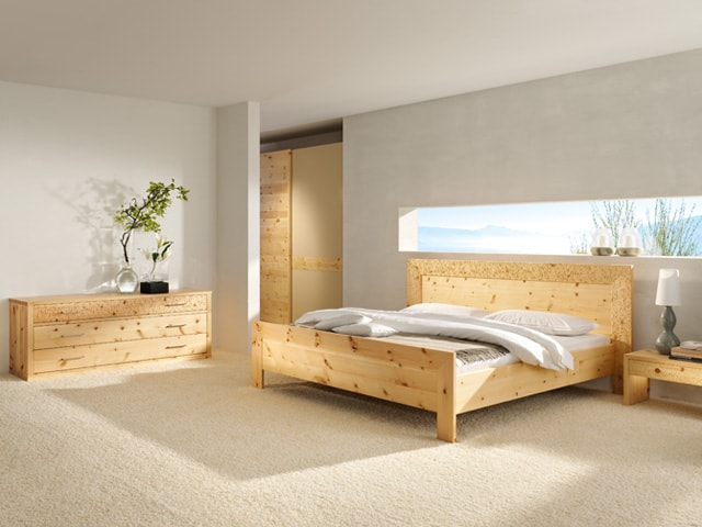 Schlafzimmermöbel Zirbenbett Grabrucker